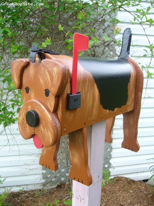 Airedale Terrier, 1, brown, Let me show  my beautiful creations of decorative mailboxes!